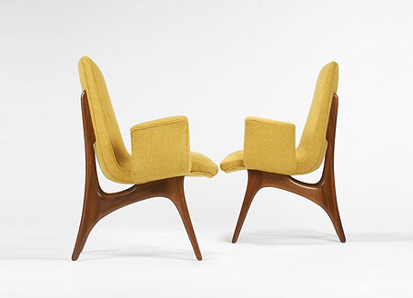 Armchairs model #176/E, pair