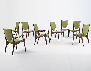 Shield Back dining chairs, set of eight