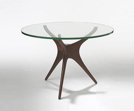 Tri-symmetric dining table, model #414