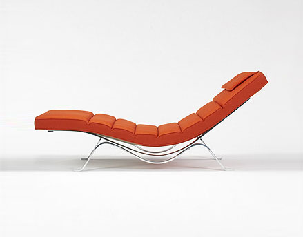 Chaise lounge, model #5490 by Wright
