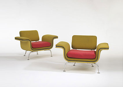 Lounge chairs model #66301, pair