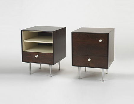 Thin Edge nightstands model, pair