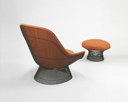 Lounge chair and ottoman by Wright