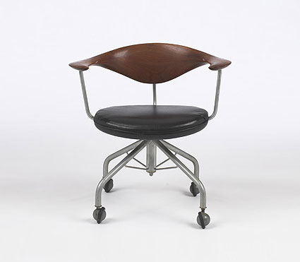 Swivel chair, model #50 by Wright