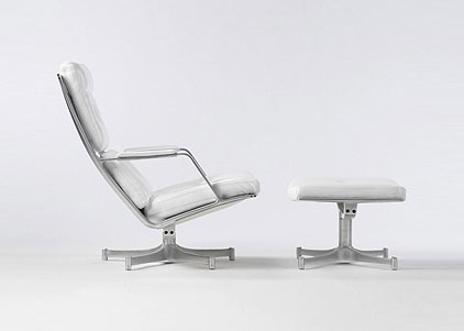Wright-Lounge chair and ottoman