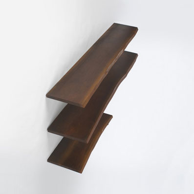 Wall shelves, set of three