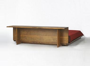 Headboard and platform bed