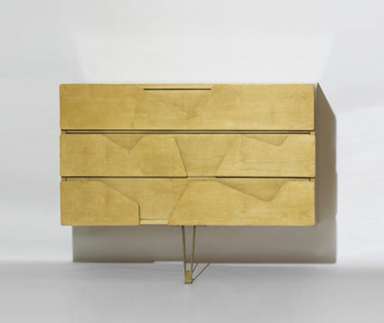 Wall-mounted dresser by Wright