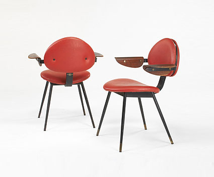 Pair of armchairs by Wright
