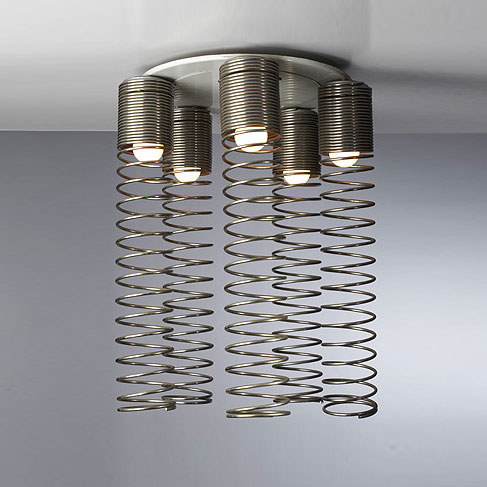 Spirali ceiling fixture by Wright