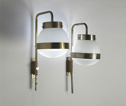 Delta sconces, pair