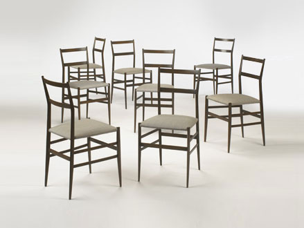 Superleggera chairs, custom set