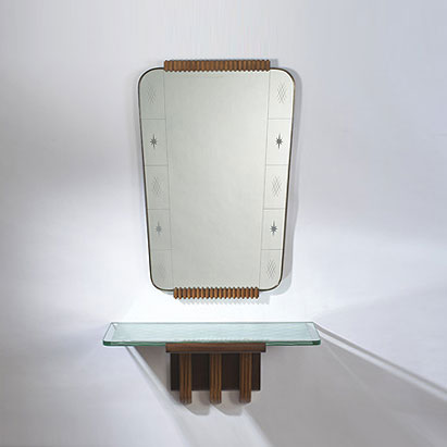 Mirror with console