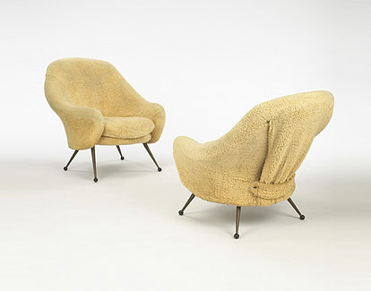 Martingala lounge chairs, pair