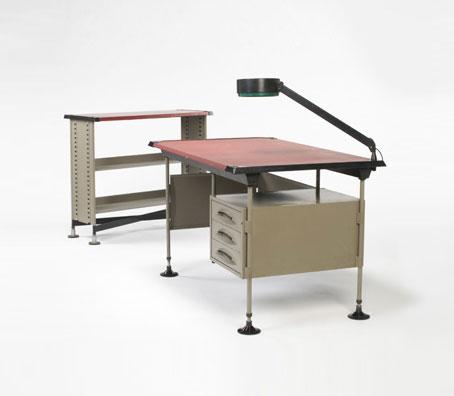 Spazio desk and shelf