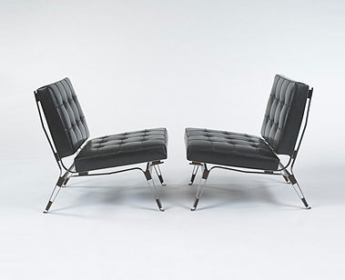 Lounge chairs, model #856, pair