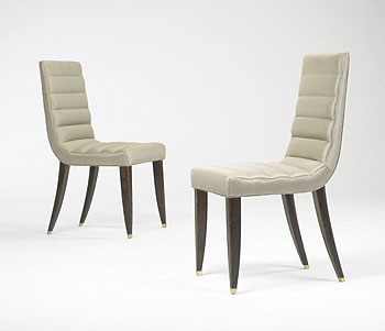 Side chairs, pair