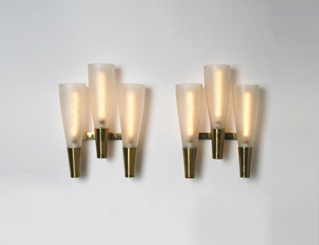 Sconces, pair