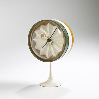 Striped table clock, model no. 2264