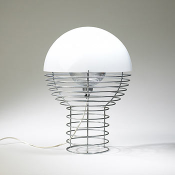 Wire lamp by Wright