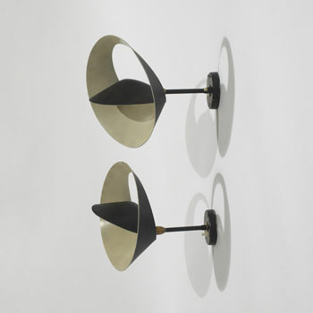Saturne sconces, pair
