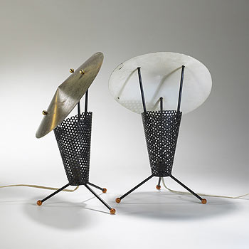 Table lamps, pair