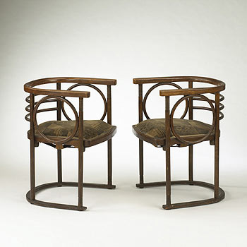 Bentwood chairs, pair de Wright