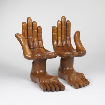 Double Foot and Hand loveseat