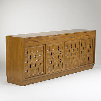 Woven Front cabinet, model no. 5666 by Wright