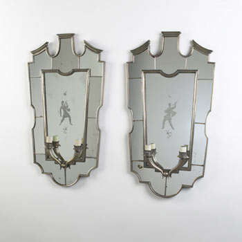 Mirror sconces, pair