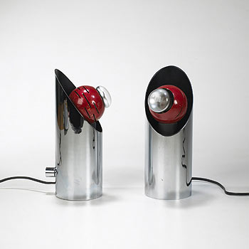Contrast table lamps, pair