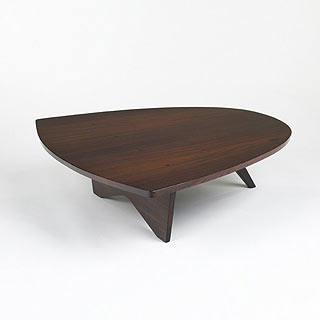 Conoid rosewood coffee table