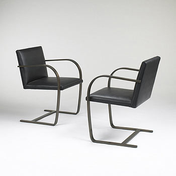 Brno chairs, pair