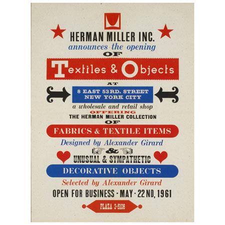 Textiles & Objects poster by Wright