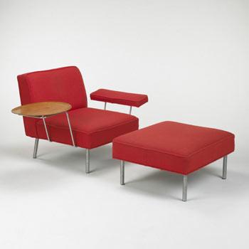 Wright-Lounge chair/ottoman, model no. 5071
