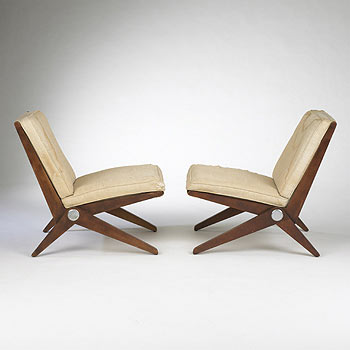 Scissor lounge chairs model 92