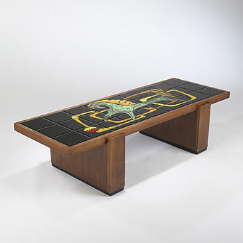 Custom tile coffee table by Wright