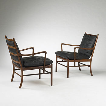 Colonial armchairs, pair model no. 149 by Wright