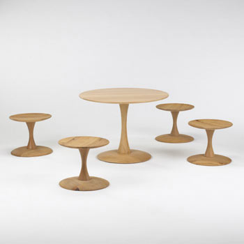 Toadstool seats and table by Wright