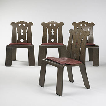 Chippendale dining chairs, set of four