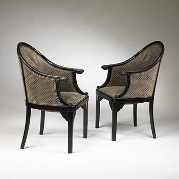 Wright-Armchairs, pair