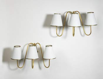 Jet d'eau sconces, pair