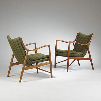 NF-45 chairs, pair