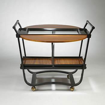 Wright-Drop leaf teacart model 4487