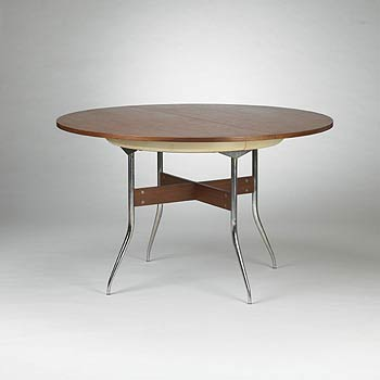Swaged Leg dining table, model 5853
