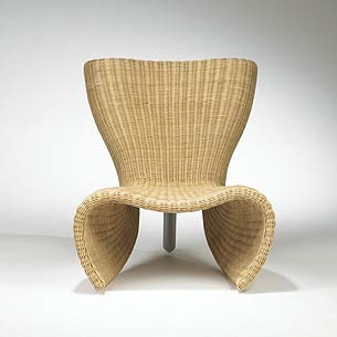 Wicker chair and lounge by Wright