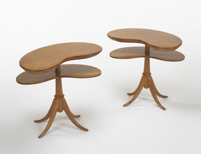 Side tables, pair