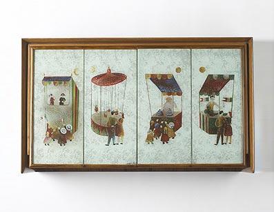 Unique wall cabinet