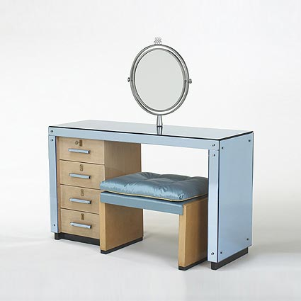 Mirrored vanity/stool by Wright