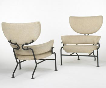 PL-19 lounge chairs, pair